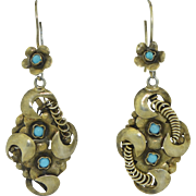 Victorian Lativa 875 Silver Dangle Earrings