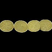 10K Art Nouveau Cufflinks by Hallmark