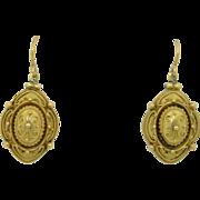 14K Victorian Etruscan Revival Earrings