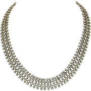 Lovely Victorian 800 Silver Collar Necklace
