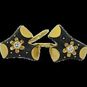 Vintage 18K Black Branch Earrings