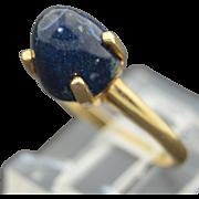 Modernist 14K Bullet Lapis Ring