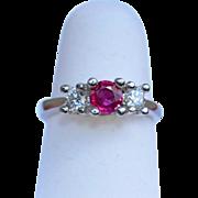 Platinum AA Ruby & Diamond Ring