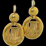 Victorian 15K large Hoop Earrings