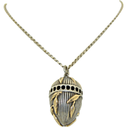 Sterling Silver & 14K Perfume Pendant