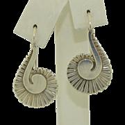 GEORG JENSEN Earrings Snail Design #92 B, Sterling Silver Pierced