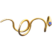 Victorian 14K Articulated Snake Coil Ring