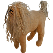 Amish, Antique ,Large, Cloth Lion