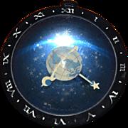 West Clox Art Deco Celestial Astronomical Clock