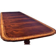 American Large Flaming Mahogany Dining Table, 12ft. Clipped, Scalloped, Retail $12,000, Shipping Not Free!!! LH-12-3L