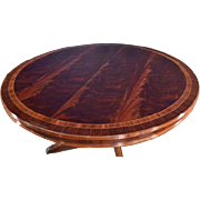 Floor Sample, Leighton Hall Round Mahogany Dining Table, 60″Diameter, Retail $6,000, Shipping Not Free!!!
