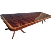 American Made Flaming Mahogany Dining Table, Over 13 ft. Long $15000 Retail, Shipping Not Free!!! LH-41