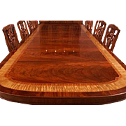 American Large Flaming Mahogany Banquet Dining Table 13 + Ft Long, Shipping Is Not Free!!!