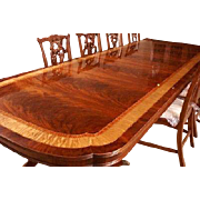 American Large Flaming Mahogany Banquet Dining Table 13 + Ft Long, LH-5-3L, Shipping Not Free!!!