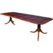 American Crafted Large 11 ft Long Mahogany Dining Table Retail $9K, Shipping Not Free!!! LH-55-3L
