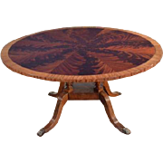 Stunning Pie Cut Mahogany 60″ Round Dining Table American Made, Retails $7,000, Shipping Not Free!!!