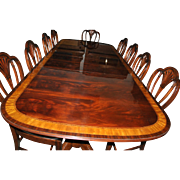 American Made Mahogany Dining Table, 10 ft. Long, Retail $10,000, Shipping Not Free!!!