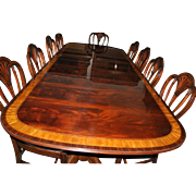 American Made Mahogany Dining Table, 12 ft. Long $12,000, Shipping Not Free!!! LH-7-3L