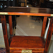Estate Asian Rosewood Rice Cabinet Etagere