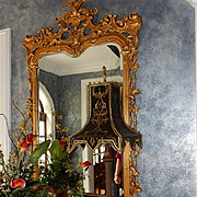"""70"""" High, Finest Large Carved Venetian Mirror Gold Gilt Cost $12,000"""