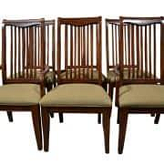 Floor Sample Drexel Heritage Set of 6 Slat Back Dining Chairs Retail $2500