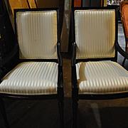 Two New Sheraton Style Dark Mahogany Formal Armchairs Retail 500.00 Each