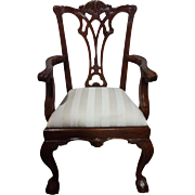 Floor Sample, Set of 8 Leighton Hall Chippendale Style Ball & Claw Dining Chairs