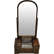"Antique Dressing Mirror Walnut, Circa 1800, 36.5""H"