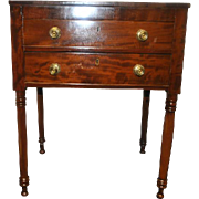 "Antique Federal Period 2 Drawer Side, Work Table, 29""H Circa 1810"
