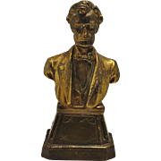 Antique Lincoln Bust Statuette Bookend (1) Ca 1930 Armour Bronze Co.