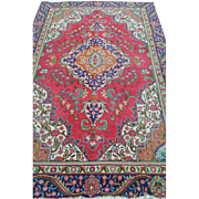 """Beautiful Hand Knotted Red Beige Blue Persian Rug 67""""W x 104""""L"""