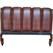 "Showroom Sample Broyhill Bettingham Leather King Sleigh Headboard 4330-248, 62""H"