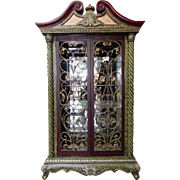 "Huge, NeoClassic & French Style Display, China, Curio Cabinet 86""H"