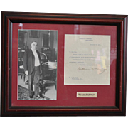 Authentic Signed Letter & Photograph From William McKinley 25th President 1897-1901
