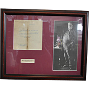 Authentic Signed Letter & Photograph William H Taft 27th President With COA
