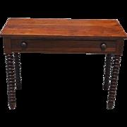 "Antique Jenny Lind Writing Desk Solid Walnut Circa 1840 40""W"