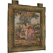 "Antique Tapestry Courtship Landscape 29"" x 37"""