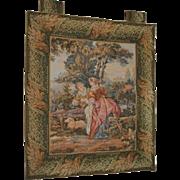 "Antique Tapestry Courtship Landscape 29"" x 37"""