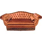 "Lavish Empire Style Tufted,Silk Velvet Sofa 90""W"