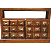 Mahogany Faux Library Card File, Cabinet, Console Table, TV Table