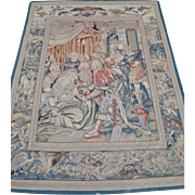 Large Antique Roman Themed Hand Sewn Tapestry 8' x 6'