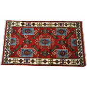 Fine Persian Hand Knotted Indo Kazak Wool Area Rug 5' x 3'