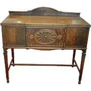 "Antique Petite Sheraton Style Server, Sideboard, Buffet, Mahogany, Flaming Mahogany, 44""W"