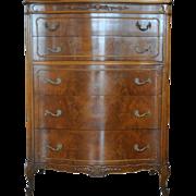 """ELEGANT Vintage French Chest of Drawers, Mahogany, 51"""" H"""