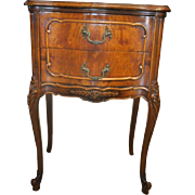 """Vintage French Mahogany Side Table, Nightstand, Accent Table, 29""""H"""