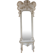 Antique Rococo Pier Mirror, Beveled Mirror, Painted Wood, 19th Century, 8FT, PA4676, SHIPPING NOT FREE!!!