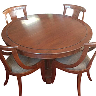 Stickley Directoire 54 Round Oval Dining Table & 4 Side Chairs 7954-S
