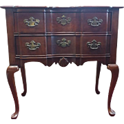 "Hooker Block Front Queen Anne Style Lowboy, Mahogany, 17""D x 30""W x 30""H"