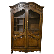 "Vintage French Style Armoire, Solid Wood, 90""H"