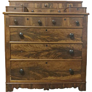 "Antique Gentleman's Chest of Drawers, Walnut, 48.5""H"